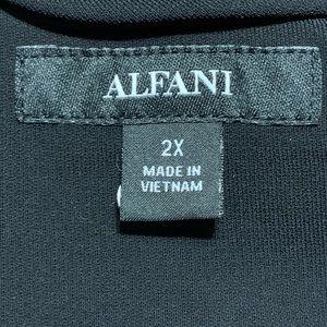 Alfani Jackets & Coats - Alfani Size 2X Black Dressy Open Front Overcoat